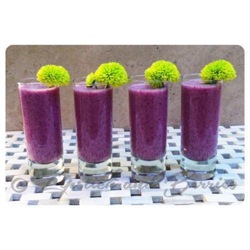 Purple Pina Colada Shooters. Vegan and Sugar-Free!  www.LipstickandBerries.com
