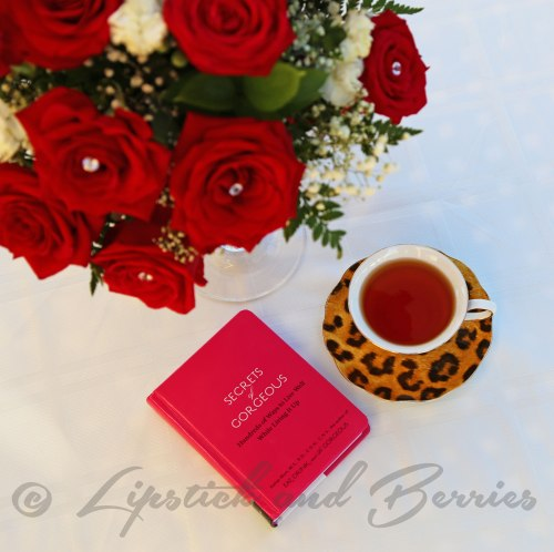 Fresh Red Roses and Tea