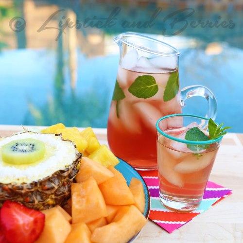 Tropical Tea Cocktail www.LipstickandBerries.com