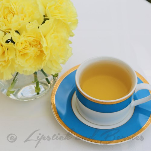 Ahhhh relaxing Chamomile Tea.  Tea Tuesday at  www.LipstickandBerries.com