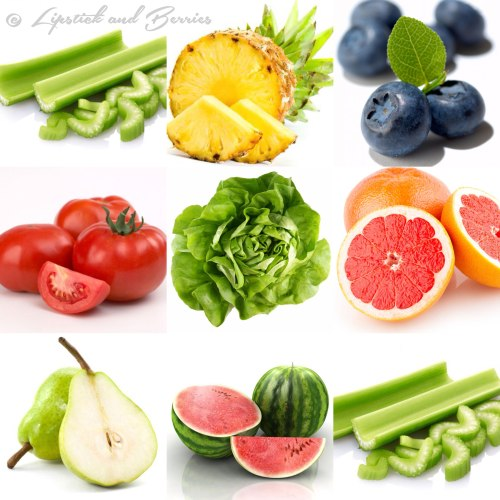 Top Hydrating Foods  (www.LipstickandBerries.com)