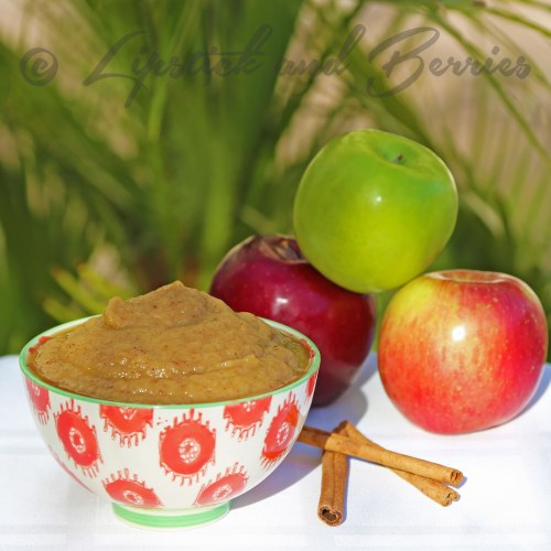 Simply Spiced Raw Applesauce.  Vegan and SOS-Free (Salt, Oil, Sugar)