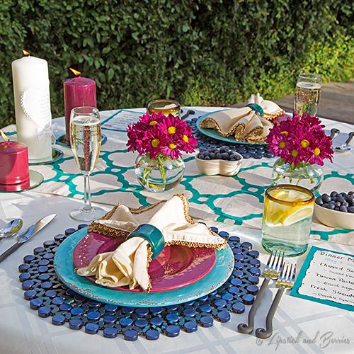 Ourdoor Anniversary Tablescape