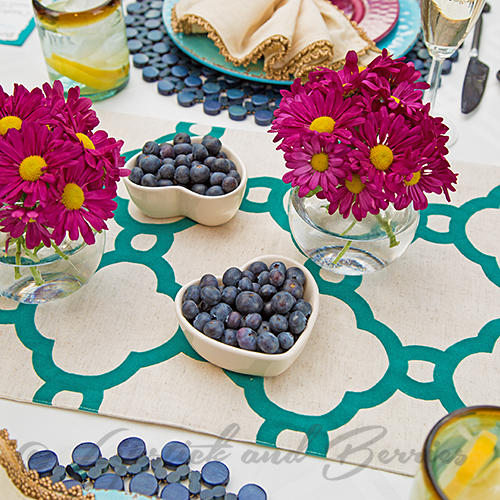 Outdoor Tablescape using Pier 1, Williams Sonoma, Dillards Home