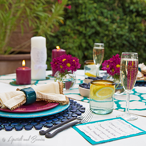 Ourdoor Tablescape using Pier 1, Williams Sonoma, Dillards Home