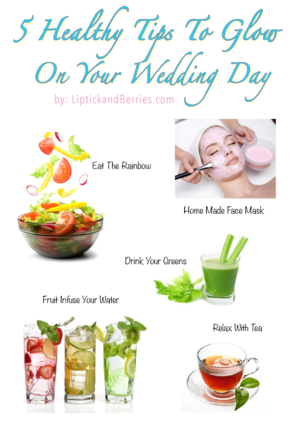 Healthy Tips For The Bride To Be! www.LipstickandBerries.com  #healthyliving #healthytips #bridetobe #wedding #bride
