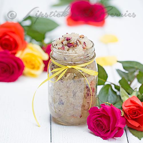 Home made Rose Anise Sugar Scrub