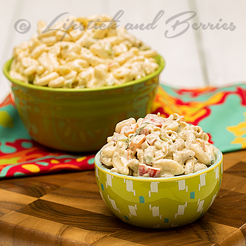 Marvelous Macaroni Salad! A delicious plant based salad that is gluten, oil, and sugar free!  If you are a Dr McDougall, Forks Over Knives, or Engine 2 fan you'll want to pin this!