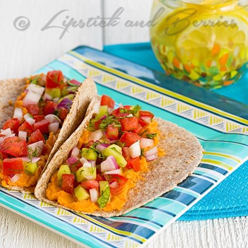 Mediterranean Salsa & Hummus Wraps!  #easyrecipes #vegan #sosfree #lowfatrecipes