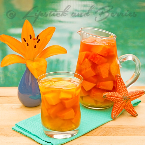 Tropical Tea infused with Fruit!! #teatime #afternoontea #fruit