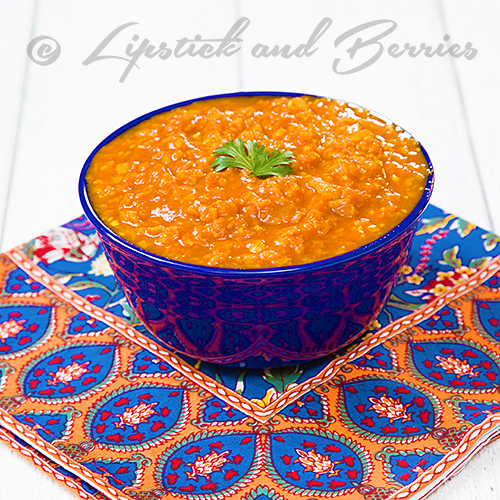 Red Lentil Dahl (Low fat, oil-free, Nutritarian Style!) #vegan
